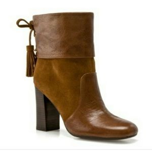 Anthro Levity Briana Brown Leather/Suede Boots 8
